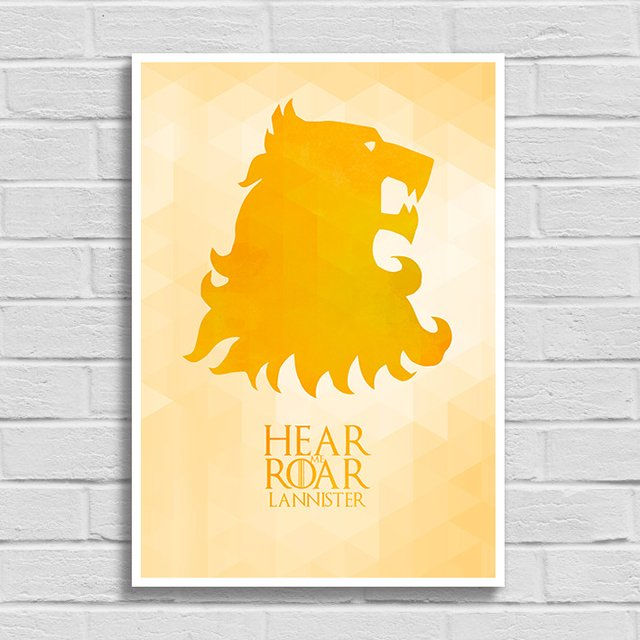 Poster Game of Thrones - Hear me Roar - Lannister