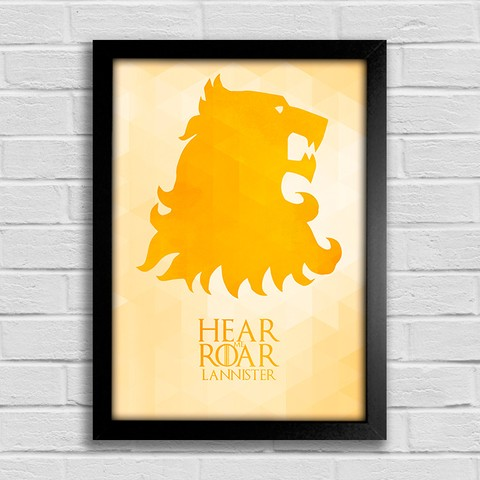 Poster Game of Thrones - Hear me Roar - Lannister - comprar online