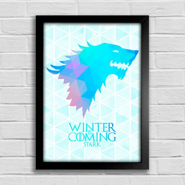 Poster Game of Thrones - Winter is Coming - Stark - comprar online
