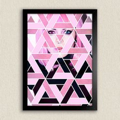 Poster Geom Pink Girl