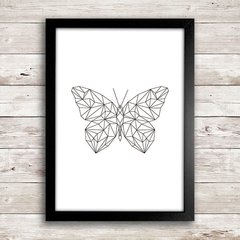 Poster Geometric Butterfly