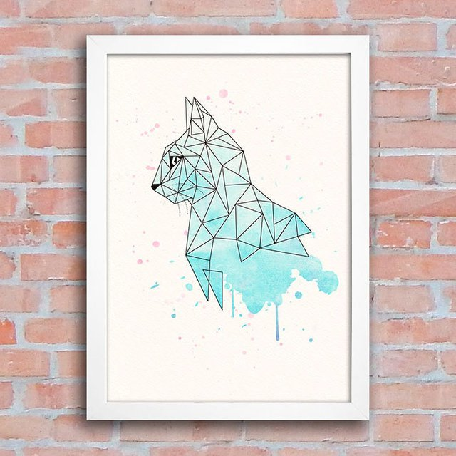 Poster Geometric Cat na internet