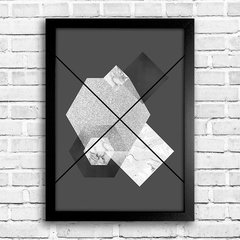 Poster Abstrato Geometric Grey na internet