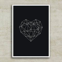 Imagem do Poster Geometric Heart Black