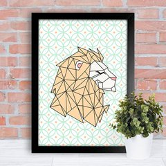 Poster Geometric Lion na internet