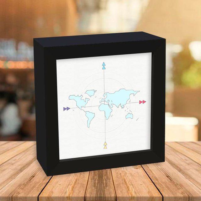 Quadro Box Geometric Map na internet