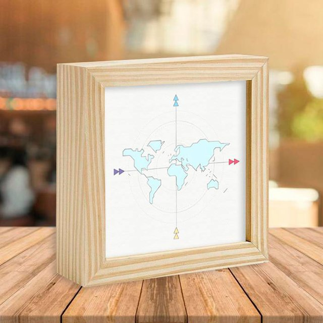 Quadro Box Geometric Map