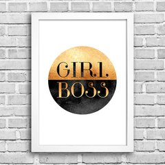 Poster Girl Boss Golden - comprar online