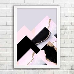 Poster Gold Veins Mountains - comprar online