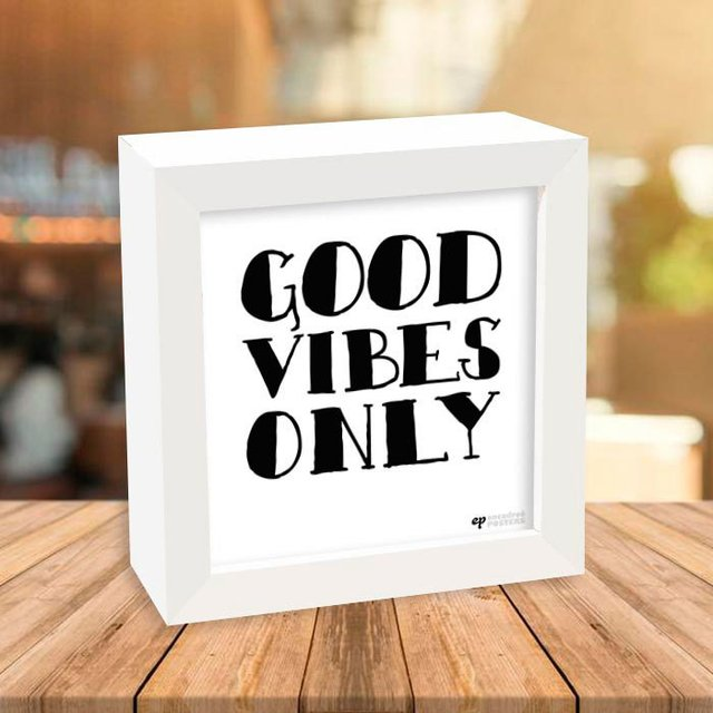 Quadro Box Good Vibes Only - comprar online
