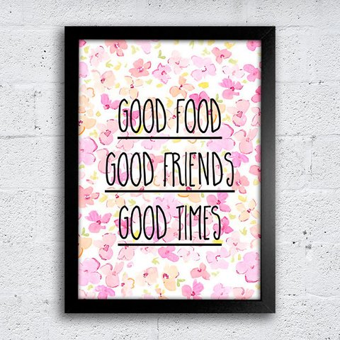 Poster Good food Good Friends Good Times - comprar online