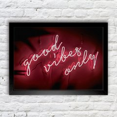 Poster Good Vibes Neon - comprar online