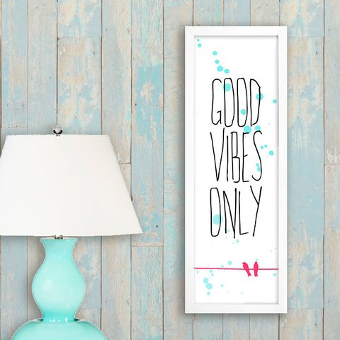 Poster Good Vibes Only - Birds na internet