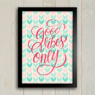 Poster Good Vibes Only - comprar online
