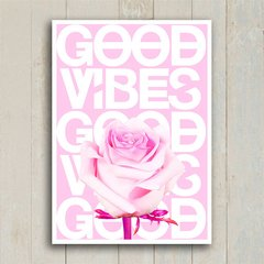 Poster Good Vibes Rose na internet