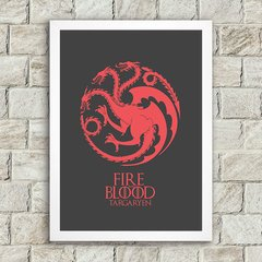 Poster Fire and Blood - Dark - comprar online