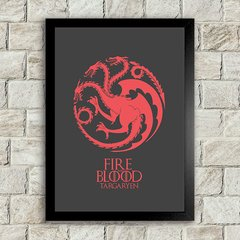 Poster Fire and Blood - Dark na internet