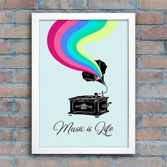 Poster Gramophone - Music is Life na internet