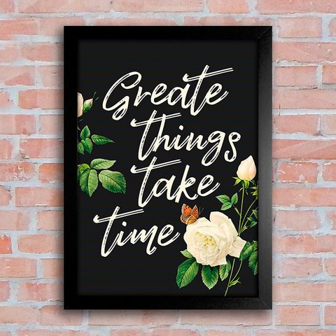 Poster Great things take time - comprar online