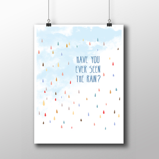 Poster Creedence - Have You Ever Seen The Rain? - Encadreé Posters