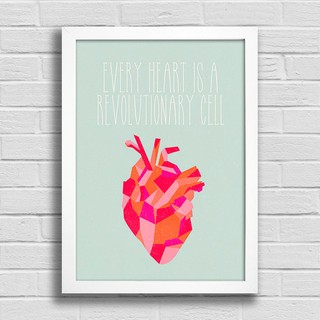 Poster Every Heart is a Revolutionary Cell - loja online