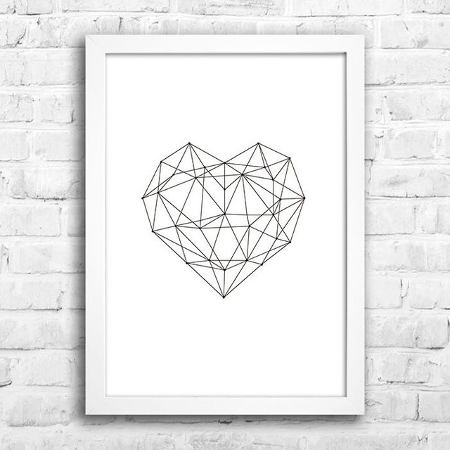 Poster Geometric Heart na internet