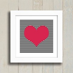 Quadro Heart Stripes na internet