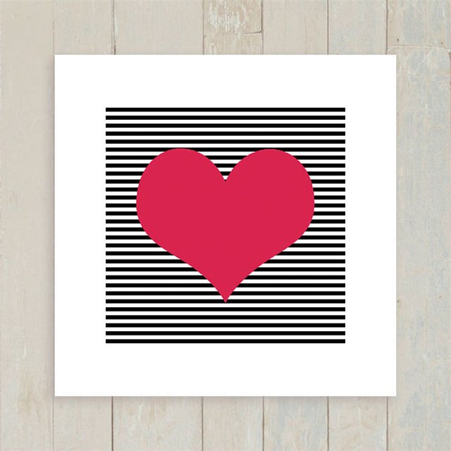 Quadro Heart Stripes