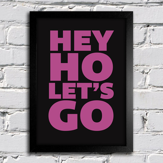 Poster Ramones Hey Ho Lets Go