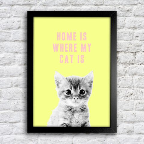 Poster Home is where my cat is - comprar online