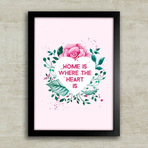 Poster Home is where the heart is - comprar online