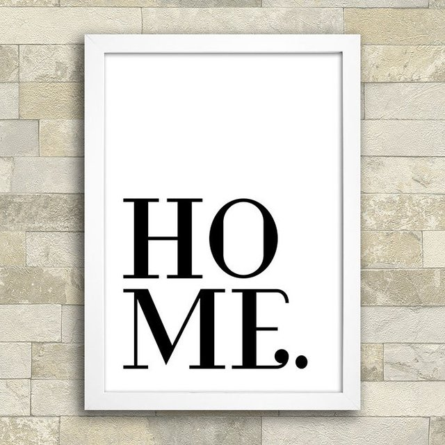 Poster Home Minimal na internet
