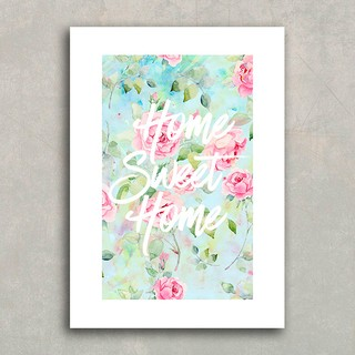 Poster Home Sweet Home Roses - Encadreé Posters