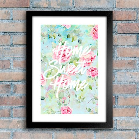 Poster Home Sweet Home Roses - comprar online