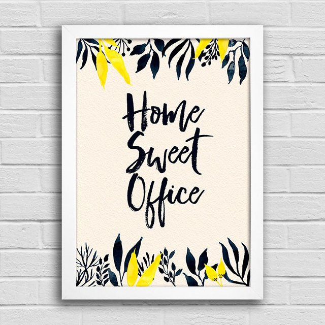 Poster Home Sweet Office - Encadreé Posters