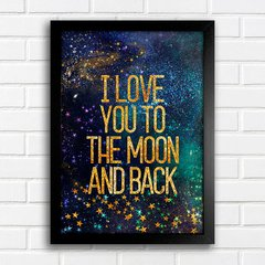 Poster I love you to the moon - gold na internet