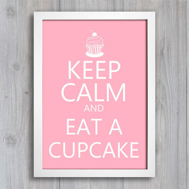 Poster Keep Calm and Eat a Cupcake - comprar online