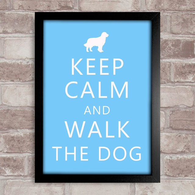 Poster Keep Calm and Walk the Dog - comprar online