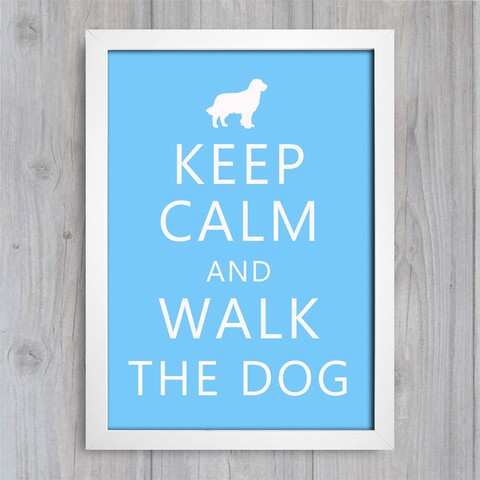 Poster Keep Calm and Walk the Dog