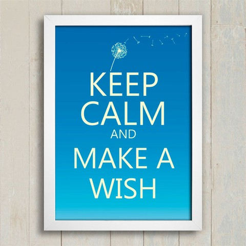 Poster Keep Calm and Make a Wish