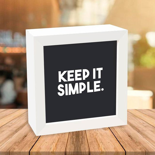 Quadro Box Keep It Simple - comprar online