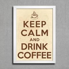 Poster Keep Calm Café na internet