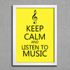 Poster Keep Calm and Listen to Music - comprar online