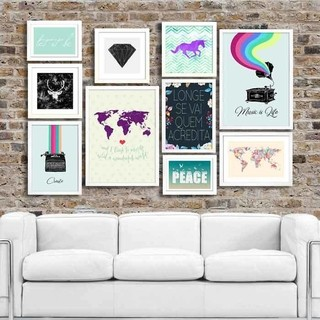 Kit Full Wall Travel - Encadreé Posters