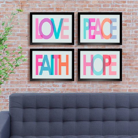 Kit Love Peace Faith Hope - comprar online