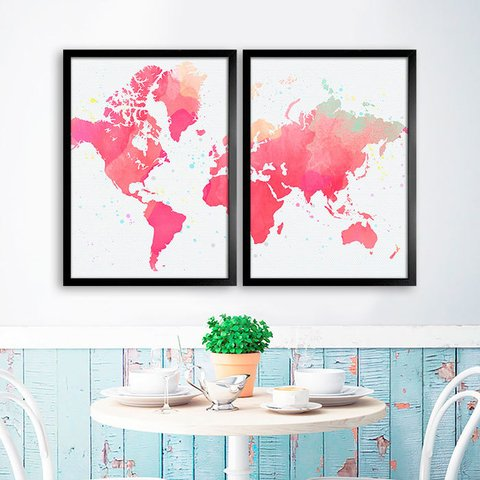 Kit Watercolor World Map - comprar online