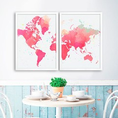 Kit Watercolor World Map na internet