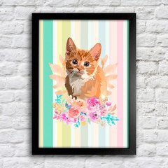 Poster Kitty Flower na internet