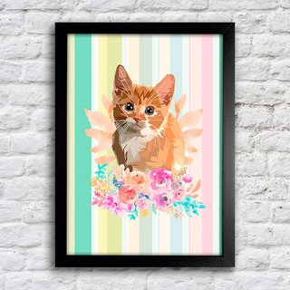 Poster Kitty Flower - comprar online