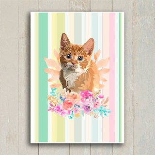 Poster Kitty Flower - Encadreé Posters
